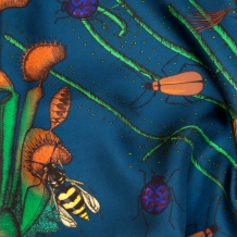 détail couleur Bleu, twill de soie