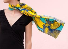 Jaune / Bleu, 29 x 140 cm, Twill de soie
