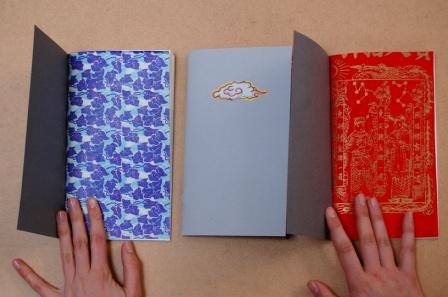 "3 Carnets ""Asie"" (pages de garde)"