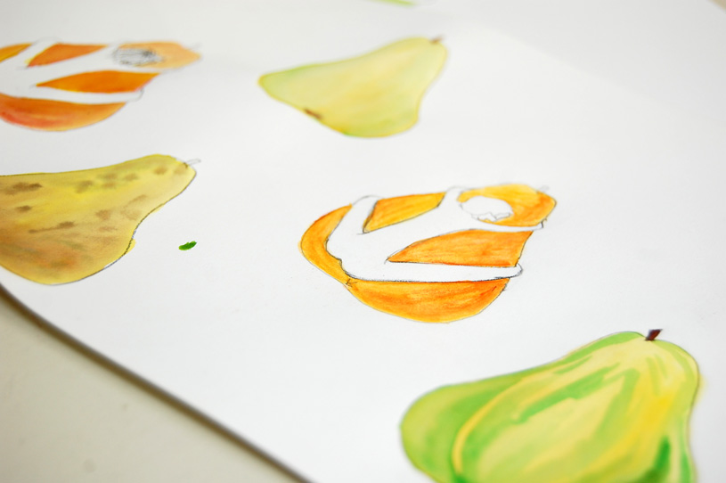 Gocco print : La bonne poire 4