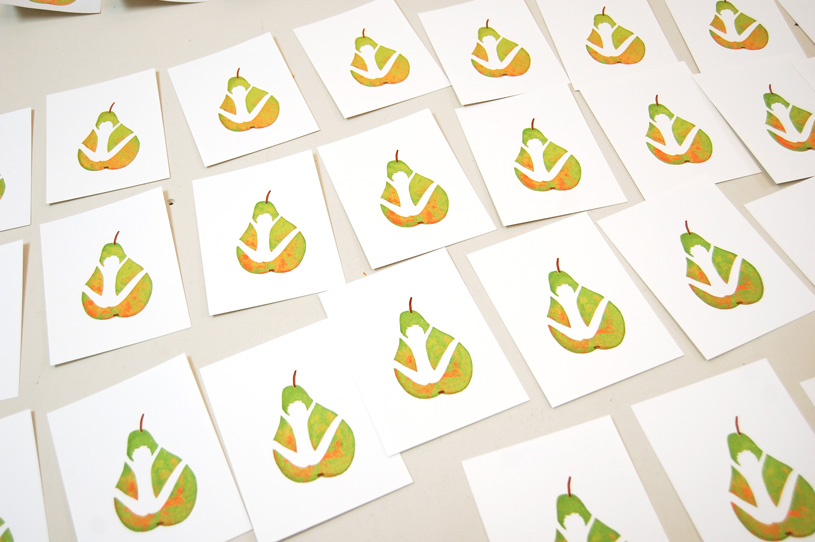 Gocco print : La bonne poire 7