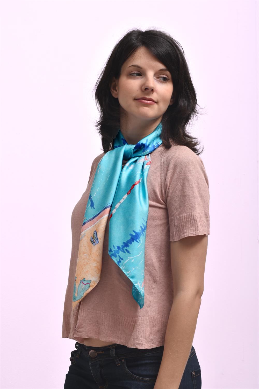 Twill de soie, 90x90 cm