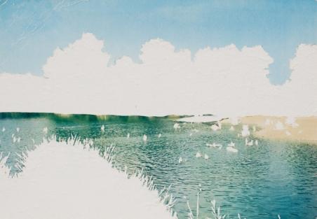 Carte postale, œuvre unique, 10,5x15 cm